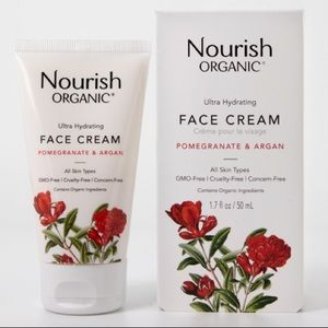 Nourish Organic Face Cream Argan+Pomegranate NIB